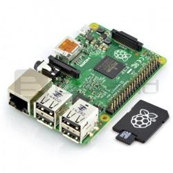 Raspberry Pi 2 model B 1GB RAM z kartą pamięci + system