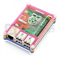 Rainbow Case B - kolorowa przezroczysta obudowa do Raspberry Pi 2B