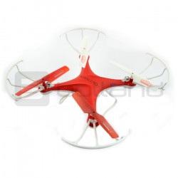 Dron quadrocopter OverMax X-Bee drone 3.1 2.4GHz z kamerą 2MPx czerwony - 34cm