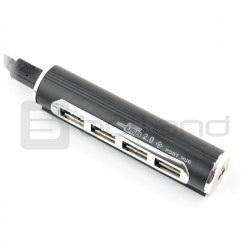 Tracer H6 - HUB USB 2.0 aktywny hub 4-portowy z zasilaczem 5V/1A
