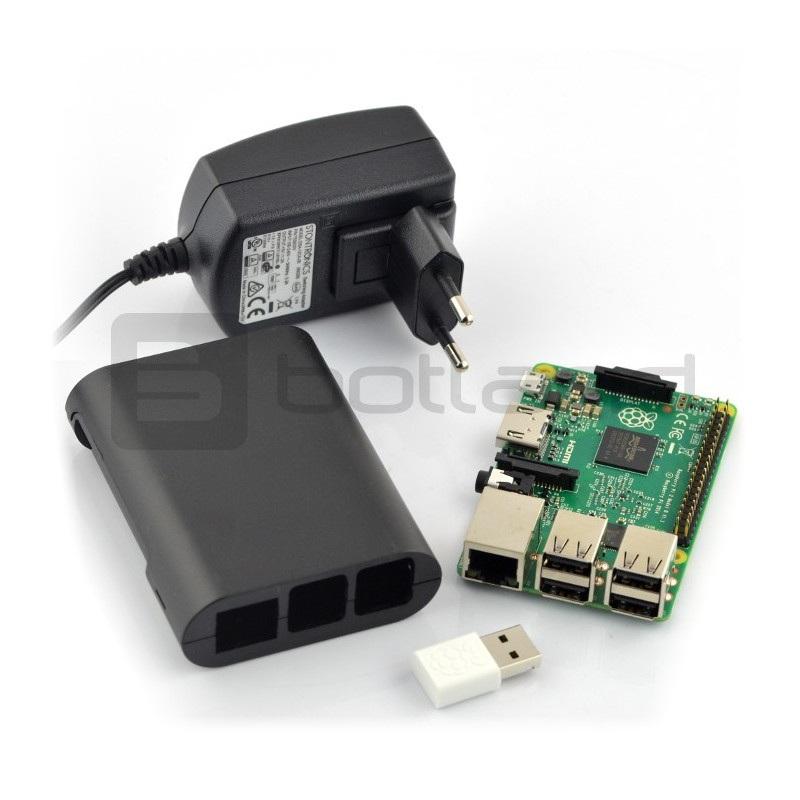 Zestaw Raspberry Pi 2 model B WiFi Lite Black