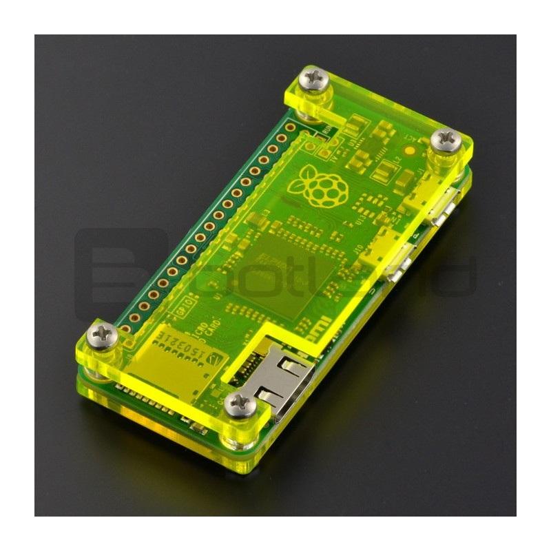 Obudowa Raspberry Pi Zero - Fluo zielona