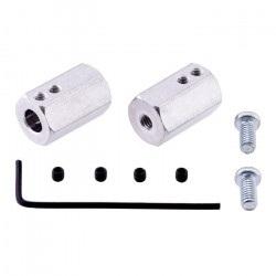 Sześciokątny adapter do kół - 12mm/6mm - 2 szt.