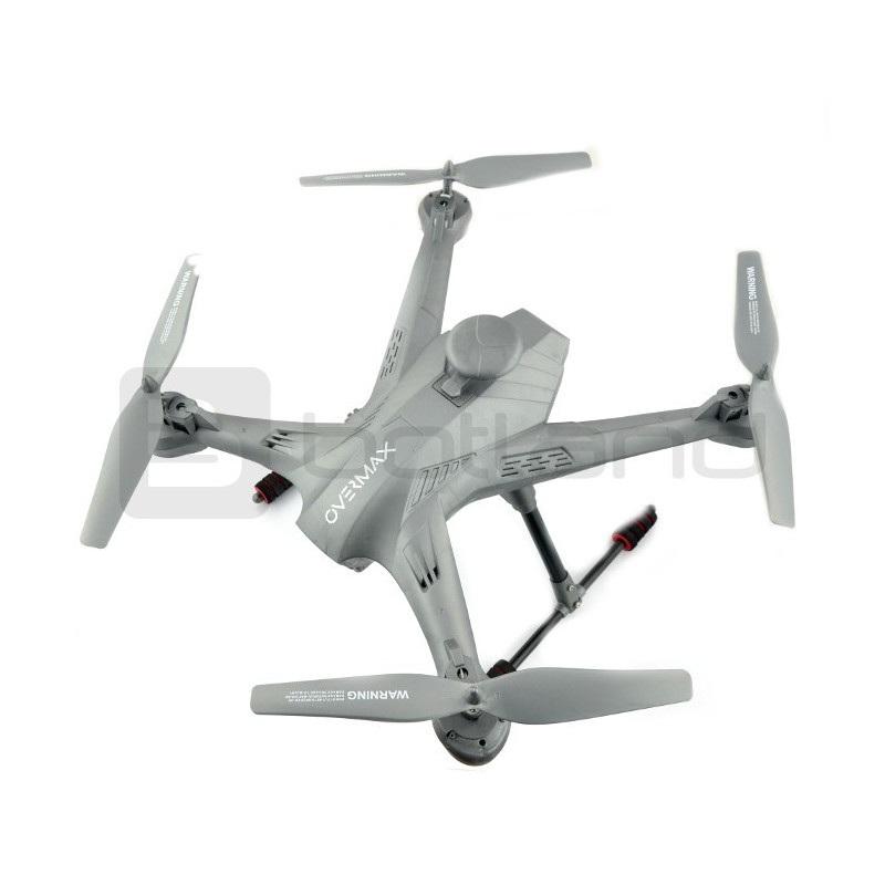 Dron quadrocopter OverMax X-Bee drone 5.2 WiFi 2.4GHz z kamerą FPV - 62cm +  2 dodatkowe akumulatory