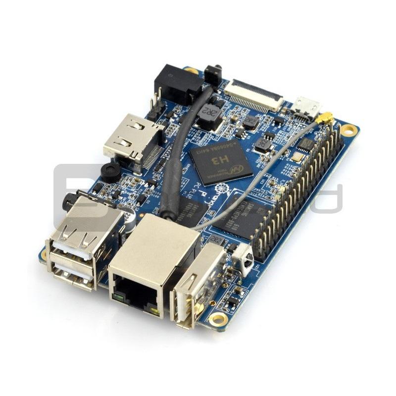 Orange Pi PC Plus - Alwinner H3 Quad-Core 1GB RAM + 8GB EMMC