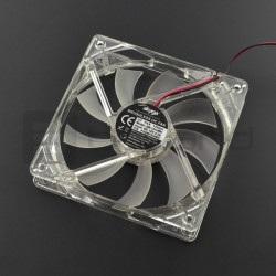 Wentylator 12V 120x120x25mm Molex - białe podświetlenie