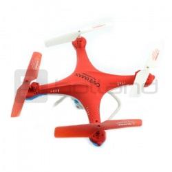 Dron quadrocopter OverMax X-Bee drone 3.1 Plus 2.4GHz z kamerą - czerwony - 34cm + 2 dodatkowe akumulatory