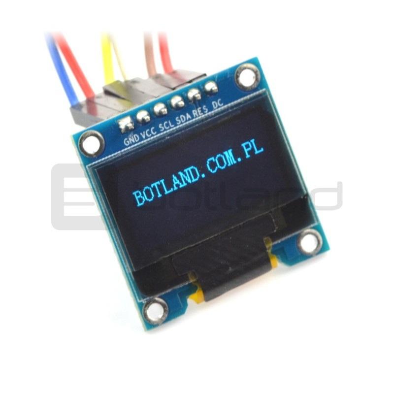 Wyświetlacz OLED niebieski graficzny 0,96'' 128x64px SPI/I2C- zgodny z Arduino