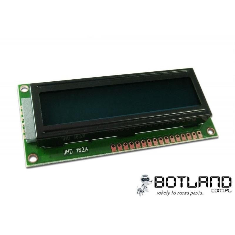 Wyświetlacz LCD 2x16 znaków czarno-zielony