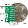 LSM303DLHC 3-osiowy cyfrowy Akcelerometr + Magnetometr - moduł - zdjęcie 6