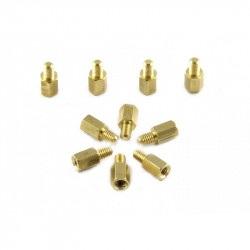 MakeBlock - dystans mosiężny M4x8 - 10szt.