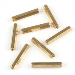 MakeBlock - dystans mosiężny M4x32 - 8szt.