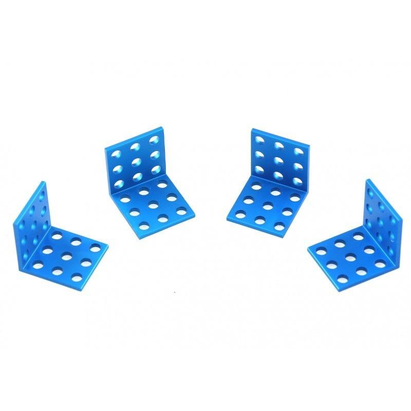 MakeBlock - uchwyt 3x3 - niebieski - 4szt.