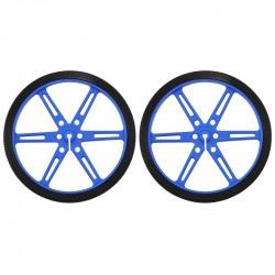 Koła Pololu 80x10mm - niebieskie