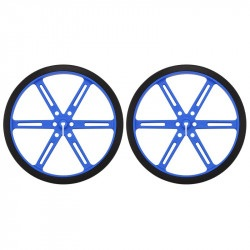 Koła Pololu 90x10mm - niebieskie