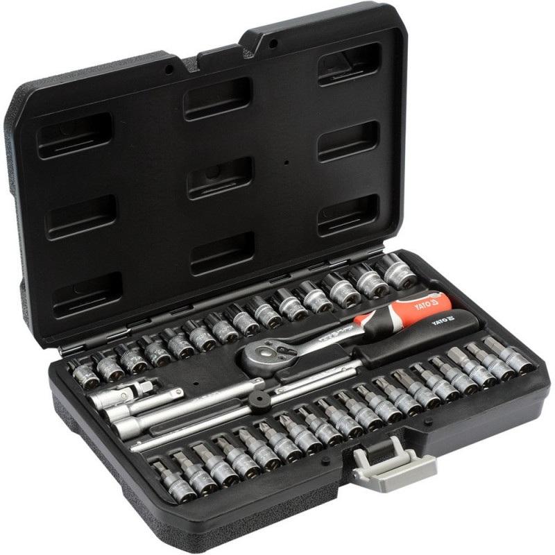 Zestaw narzędziowy Yato - 1/4'', 3/8'', 1/2'' - 38 elementów