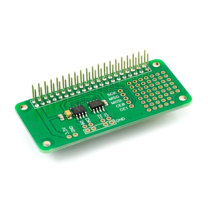 ADC-DAC Pi Zero - przetwornik A/C i C/A 12-bit SPI - nakładka dla Raspberry Pi