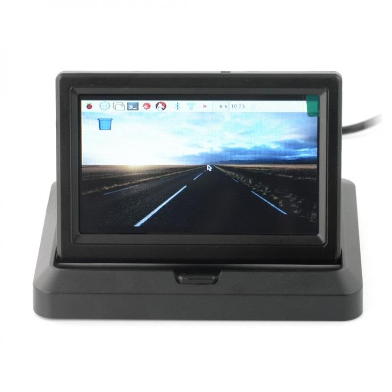 Ekran LCD TFT 5'' 800x480px wysuwany z obudową dla Raspberry Pi 3/2/B+