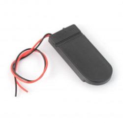 Koszyk na 2 baterie typu 2032 z pokrywą i włącznikiem - bez złącza