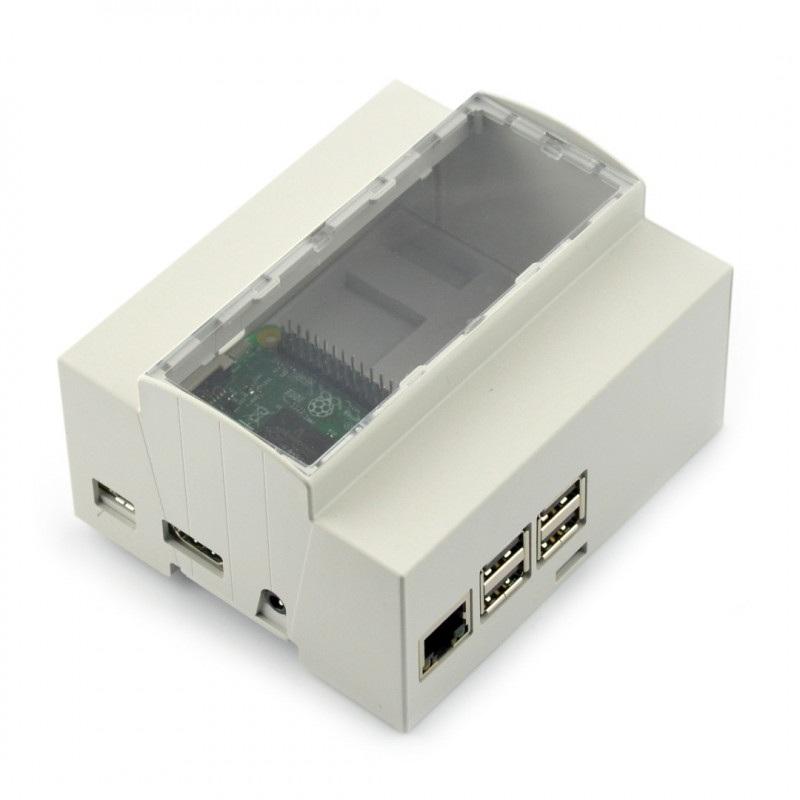Obudowa Raspberry Pi 3B/2B/B+/A+ na szynę DIN - 6M XTS