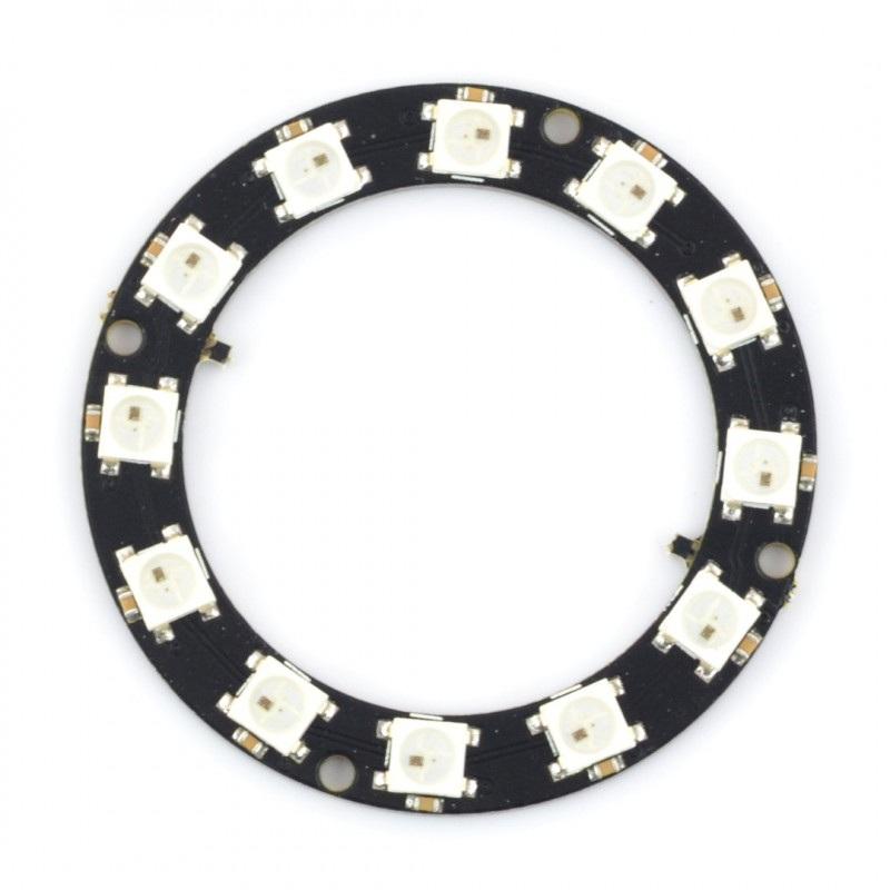 Pierścień LED RGB WS2812 5050 x 12 diod - 50mm