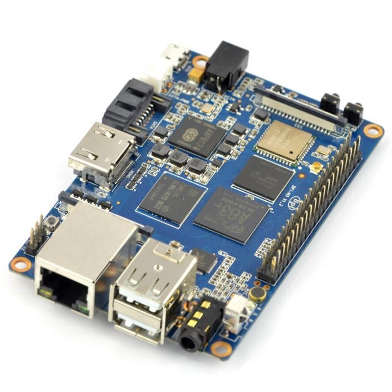 Banana Pi M3 2GB RAM Octa Core WiFi - gniazdo DC