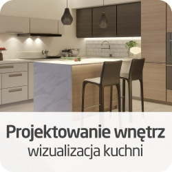 Projektowanie wnętrz - wizualizacja kuchni - wersja ON-LINE