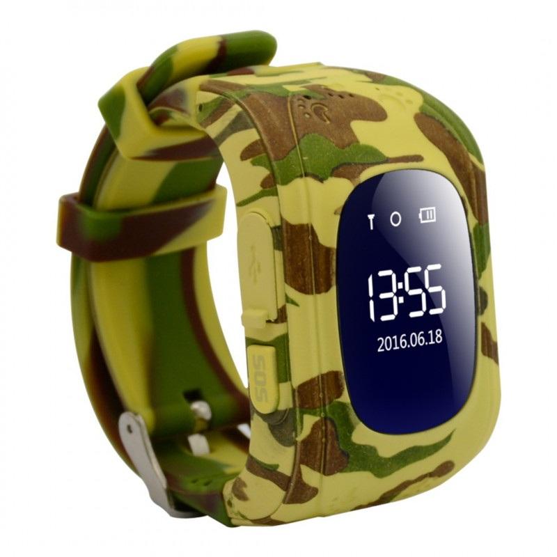 Zegarek dla dzieci z lokalizatorem GPS AW-K01- Military