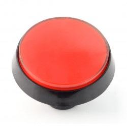 Big Push Button 6cm - czerwony - pochyły