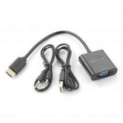 Konwerter HDMI do VGA + audio z przewodem - Vention