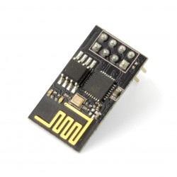Moduł WiFi ESP-01 ESP8266 - 3 GPIO, PCB antena - BLAC
