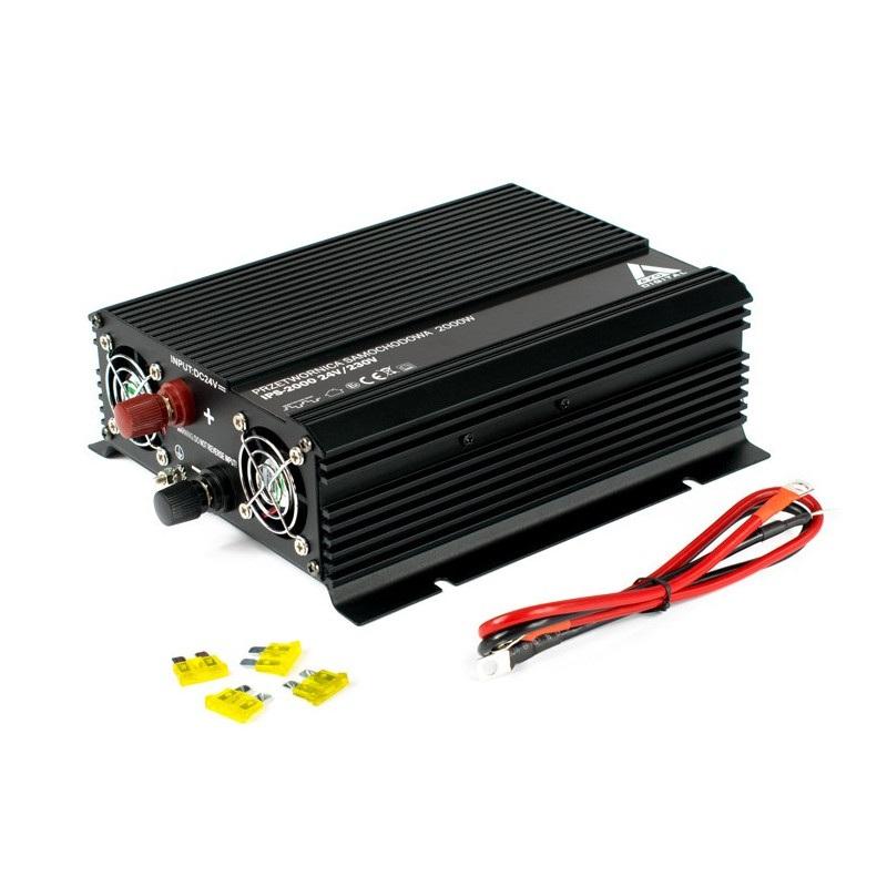 Przetwornica napięcia AZO Digital 24 VDC / 230 VAC IPS-2000 2000W