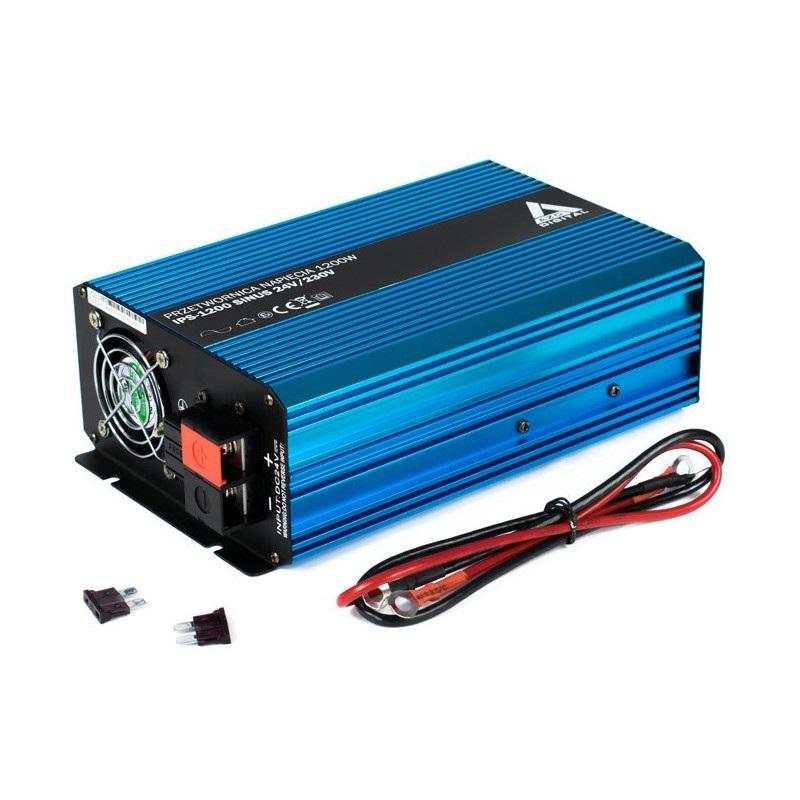 Edytuj: Przetwornica napięcia AZO Digital 24 VDC / 230 VAC SINUS IPS-1200S 1200W