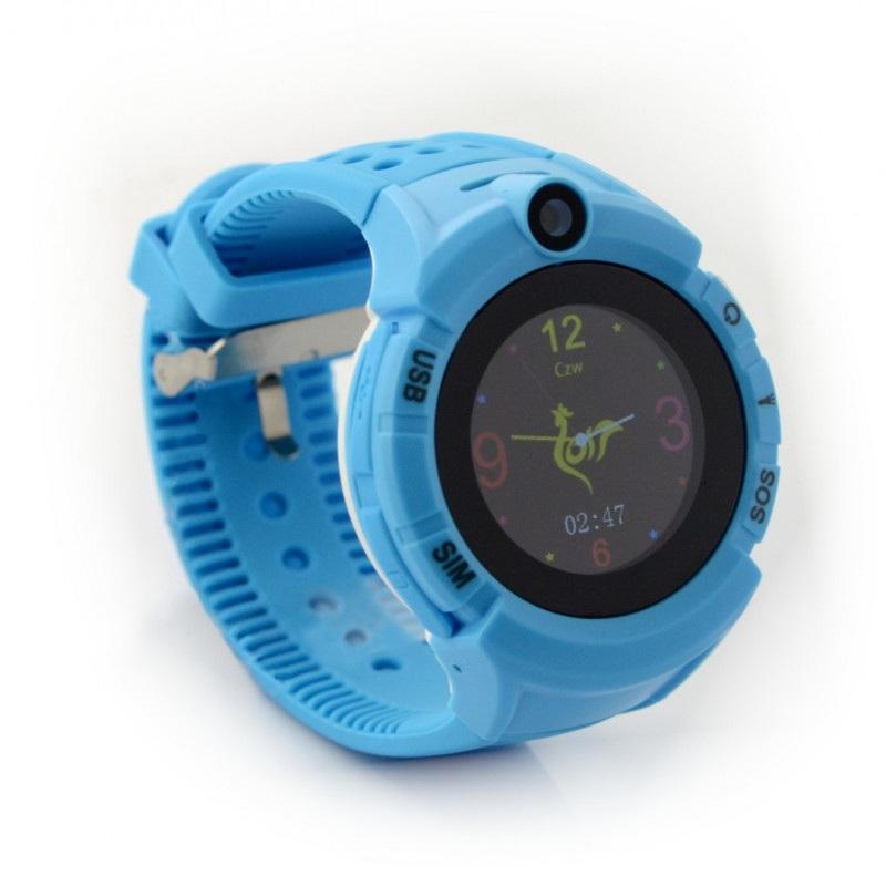 Zegarek Watch Phone Kids z lokalizatorem GPS/WIFI ART AW-K03 - niebieski