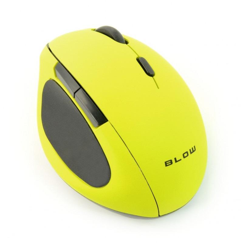 Mysz optyczna bezprzewodowa BLOW MB-50 - limonkowa