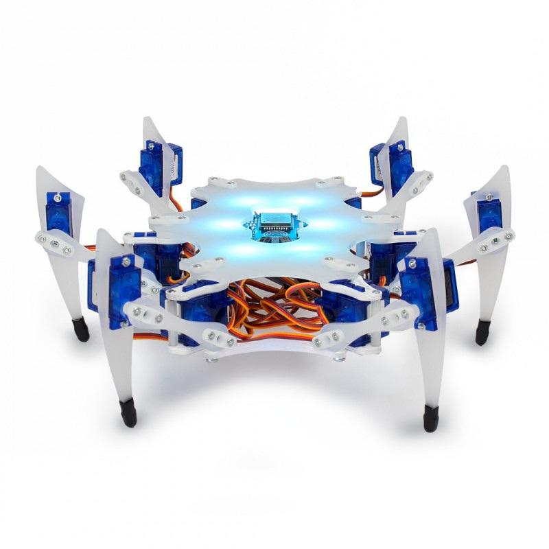 Stemi Hexapod - sześcionożny robot kroczący - zestaw do samodzielnego złożenia