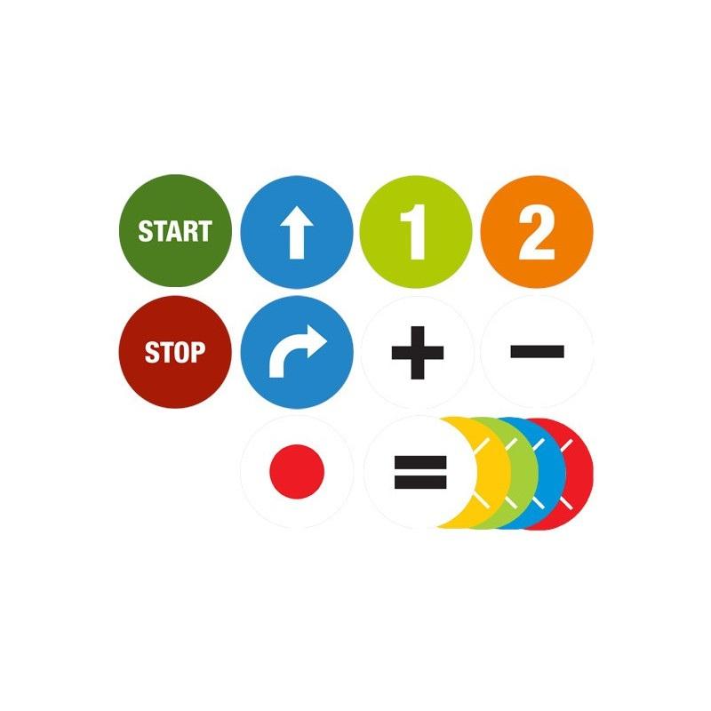 Krążki matematyczne do maty do kodowania - 175szt