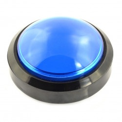 Big Push Button 10cm - niebieski (wersja eko2)