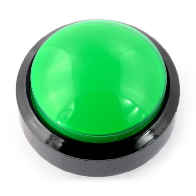 Push Button 6cm - zielony