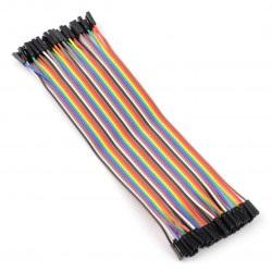 Zestaw przewodów połączeniowych - żeńsko-żeńskie 20cm - 40szt.