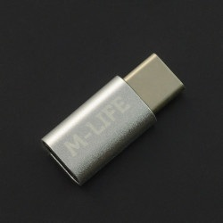 Adapter przejściówka Micro USB - USB typu C M-Life - srebrna