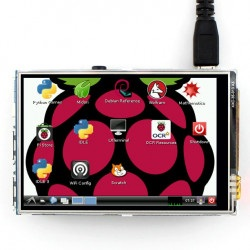 Ekran dotykowy - rezystancyjny LCD TFT 3,5'' 320x480px GPIO dla Raspberry Pi