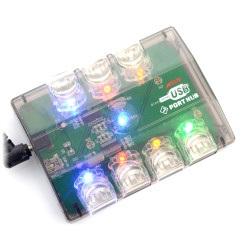 HUB USB 2.0 7-porty - kolorowe podświetlenie