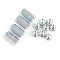 Dystanse metalowe Delock M2,5 20mm + śrubki - 4 szt.