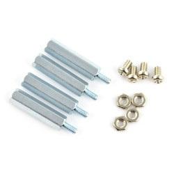 Dystanse metalowe Delock M2,5 20mm + śrubki + nakrętki - 4 szt.