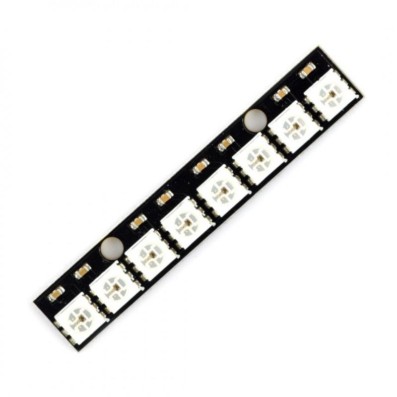 Listwa LED RGB WS2812B 5050 x 8 diod - 53mm