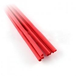 Rurka termokurczliwa 3,2/1,6 czerwona - 10szt.