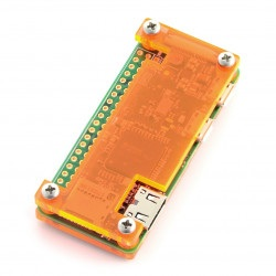 Obudowa Raspberry Pi Zero - Fluo Open - pomarańczowa