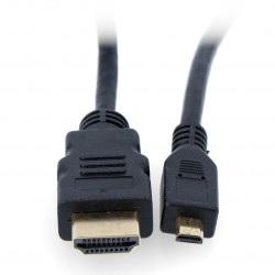 Przewód microHDMI - HDMI - 3m