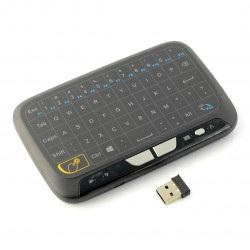 Klawiatura bezprzewodowa Smart H18 klawiatura + mysz - czarna